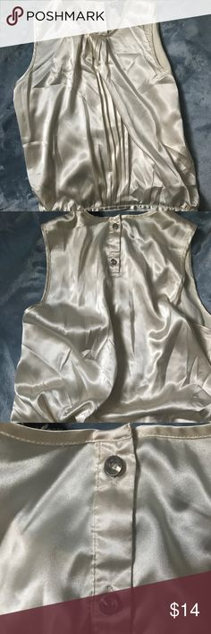 Beautiful BCBG Cami Luxurious feeling with cinched waist and rhinestone buttons. Lightly used. BCBGMaxAzria Tops Camisoles