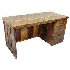 Log furniture, Desk with hutch and Desk office on Pinterest