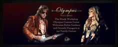 The Music Workshop Olympuscustom Guitars welcomes you Richie Sambora and Orianthi Panagaris to our family Guitars!!!!! We feel great honor we will construct a handmade guitar for you.This collaboration is a great challenge for us and we will properly respond on this project Guitars Thanks  Johnny Prapas