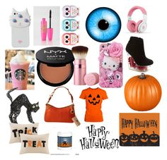 """""""Happy Halloween!"""" by prettygymnast ❤ liked on Polyvore featuring art"""