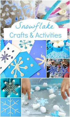 Welcome winter with these creative snowflake crafts and activities for kids