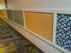 sensory wall panels at one of my districts schools, because let's face it, they always run their little hands across the wall... I utterly love this districts programs!