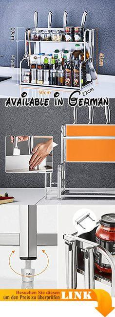 B078HNNTST  L Küchenregale Edelstahl Wand-Eckregal Gewürze