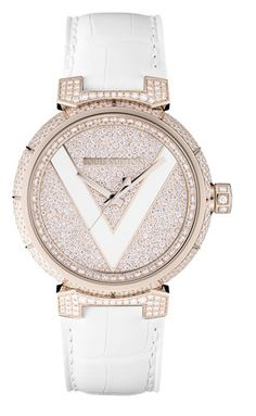 LV Tambour V Watch - Pink Gold & Diamonds