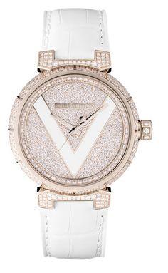 LV Tambour V Watch - Pink Gold & Diamonds