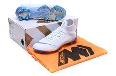 ea7c59ced83f Interesting Nike Mercurial Superfly VI Flyknit 360 Elite FG Blue White Multi -Color Men's Firm