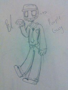 I drew purple guy !! <3