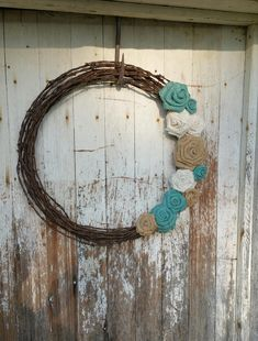 We'll work with you to create a unique piece of barbed wire art. Browse our online portfolio of barbed wire art offered or contact us about a custom order. Barbed Wire Decor, Barbed Wire Wreath, Barb Wire Crafts, Burlap Roses, Western Crafts, Burlap Door Hangers, Rustic Doors, Rustic Gardens, Diy Décoration