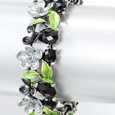 #shopsmall Black and Green Garden Bracelet from Lunga Vita Designs, Inc.  $12.00