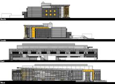 Image 9 of 10 from gallery of Edison High School Academic Building / Darden Architects. Elevations