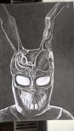 Rabbit, donnie darko. Ołówek a4. Wip.