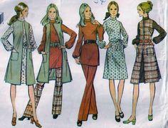 Vintage 70s Dress Pants Top Vest Sewing Pattern McCall's 2958 Bust 34 Size 12