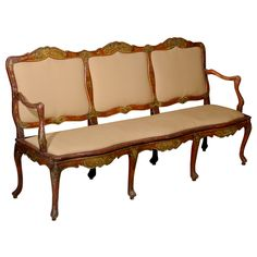 18th Century Italian Rococo Canape with Chinoiserie Design | From a unique collection of antique and modern settees at http://www.1stdibs.com/furniture/seating/settees/