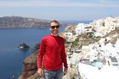 David Hoffmann in Oia, Santorini, Greece
