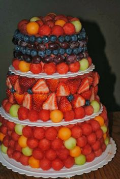 Fresh Fruit Wedding Cake Cake-Appeal.blogspot.com