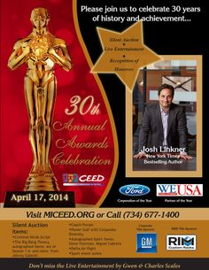 Just announced! Josh Linkner to address Annual Award Celebration attendees as Keynote Speaker #CAAC14