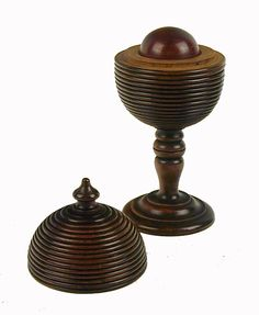 Fruitwood Cup & Cover 'Magical' Trick Game, c. 1800, England