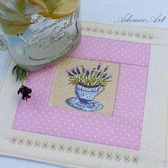 AdvancArt / Pod šálku Lavender vo bežovej