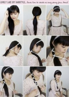 Best LOVELY LACE DIY how to hairstyle step by step and hair cuts