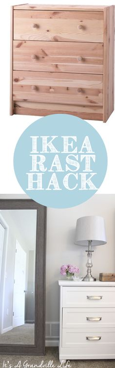 Tutorial on my DIY IKEA RAST Hack that I made for our nightstands for our bedroom. Come check out how I did it! | It's A Grandville Life