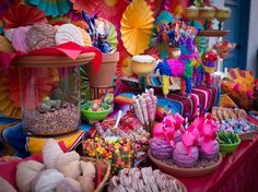 Fiesta theme party Dessert Table by Sweet Rubia Mexican Candy Bar, Mexican Dessert Table, Mexican Fiesta Party, Fiesta Theme Party, Party Themes, Party Ideas, Theme Parties, Food Trucks, Mexican Party Decorations