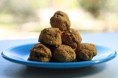 Coconut Flour Oatmeal Raisin Cookie Balls