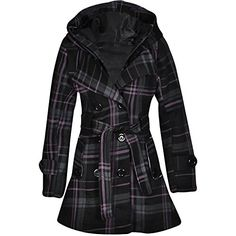 Noroze Womens Check Hood Coat