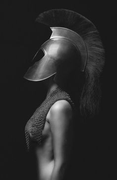 Photographer Unknown - Fashion Photography - Greek Mythology - Athena concept ideas by vladtodd Art Photography, Fashion Photography, Conceptual Photography, Warrior Princess, Black And White Photography, Role Models, Woman Warrior, Warrior 2, Warrior Costume