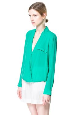Image 2 of DRAPED BLOUSE from Zara