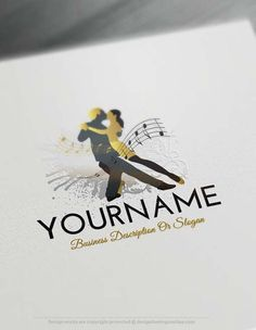 Create a Logo Free - Free Logo maker - Dancing Logo Template Ready made Dancing Logo Template illustrated with people dance.  This Dancing logos are great for Dance school etc.  How to design free logo online? 1- Customize This logo with our free logo maker tool - Change you company name, slogan, colors & fonts. 2- Like your design? Buy this