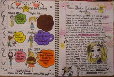 "Anna--one of my 7th graders--takes home one of my ten ""Mr. Stick of the Year"" writer's notebook awards for this two-page spread that honors the ""Stick of the Century!""  I love the acceptance speech and Stick Taylor L.'s abs, Anna, and I will miss your creativity next year. My Mr. Stick resources, which inspire great notebook pages like this one, can be found online at my website: http://corbettharrison.com/Mr_Stick.html"