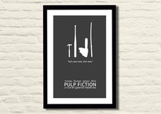Pulp Fiction Movie Poster Art Print 11 X 17 by LiltDesignCompany, $23.00