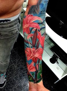 Colorful Lily Tattoo - 50+ Examples of Colorful Tattoos  <3 <3