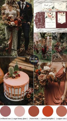 Burnt Orange Peach and Plum Wedding {Autumn Wedding Colors} Herfstbruiloft is mijn favoriet. Wedding Palette, Wedding Colour Palettes, Boho Wedding, Dream Wedding, Perfect Wedding, Copper Wedding Decor, Cabin Wedding, Elegant Wedding, Floral Wedding