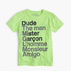 "J.Crew - Boys' ""Dude"" T-shirt"