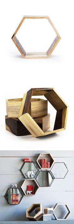 Reclaimed Hexagon Shelves