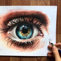 WANT A SHOUTOUT ?   ᴄʟɪᴄᴋ ʟɪɴᴋ ɪɴ ᴍʏ ʙɪᴏ !!!     Tag #DRKYSELA   Repost from @elia_pelle   Realistic eye drawing I did with prismacolor for the tutorial video I posted last week.  What do you think about it?  via http://instagram.com/zbynekkysela