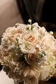 Cream Rose and Hydrangea Bouquet