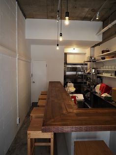 Cheap Home Decoration Stores Bistro Interior, Cafe Interior, Kitchen Interior, Japanese Restaurant Interior, Japanese Interior Design, Small Space Kitchen, Small Spaces, Ramen Bar, Small Coffee Shop