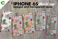 Iphone 6S Case + Device Mock-up OVERVIEW - Iphone 6S in 4 colors (rose gold, gold, silver, space gray) - Top view - For opaque 3d printing or transparent cases - File size 2000×2000px -