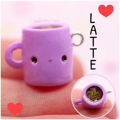 #kawaii #charms #polymer #clay #coffee