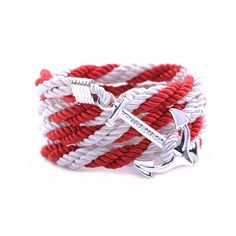 AlumniCrew Red/White Are you ready to rock your school colors in authentic Alumni Crew Style? The Joseph Nogucci Alumni Crew Bracelet Collection has brought the ancient symbolism of nautical exploration and turned it into a fashion statement that says a lot about the adventurer in you and is designed to make a splash by letting you flaunt your school spirit. - See more at: http://www.josephnogucci.com/products/alumnicrew-blue-gold#sthash.3VjePkBK.dpuf