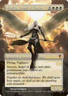 Magic The Gathering Avacyn, Angel of Hope Proxy