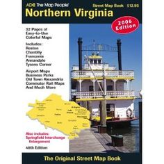 Northern Virginia Atlas (Adc the Map People Northern Virginia). Large scale atlas with street level detail showing ZIP Codes, block numbers, schools, hospitals, points of interest, airports, shopping centers and more. Fully indexed. Includes Arlington and Fairfax Counties and the City of Alexandria. Metro transit system and VA Railway Express route maps shown, as well as an enlargement of Old Town Alexandria and Ronald Reagan Washington Airport Map.