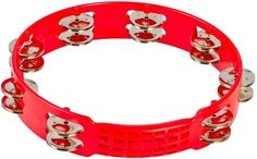 "Latin Percussion LPA191 10"" Red Tambourine"