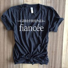 I said yes shirt,fiancee shirt,i said yes shirts,engaged af,bride gift, bachelorette party shirt, bachelorette,bridal shirt,engagement shirt  Fiancee Unisex Shirt! Recommended ordering down a size for women unless you want a loose comfy fit. Thanks!!  This updated dark grey triblend unisex essential fits like a well-loved favorite, featuring an irresistibly soft poly-cotton blend, crew neck and short sleeves.  Features: Sideseamed. Retail fit. Unisex sizing.  This print is sublimated as a…