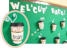 Coffee-themed Bulletin Board #bulletinboards #coffee