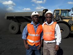 Laston Mwase with Oliver Maponga, Strategy and Business Development, Hwange Colliery