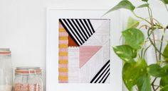 Se algum ambiente de sua casa está precisando de uma repaginada na decoração, você pode fazer um diferente e lindo quadro bordado com linhas que pode ter
