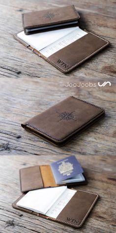 This personalized leather passport cover, is designed to be a minimalist, book cover design.  This passport cover is the perfect complement and protection for your passport.  When you are travelling, your passport is the most important item, that you need
